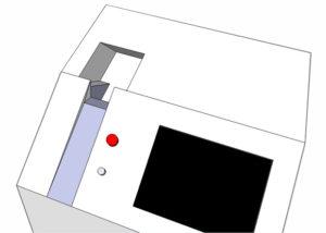 scocca laser fondo bianco