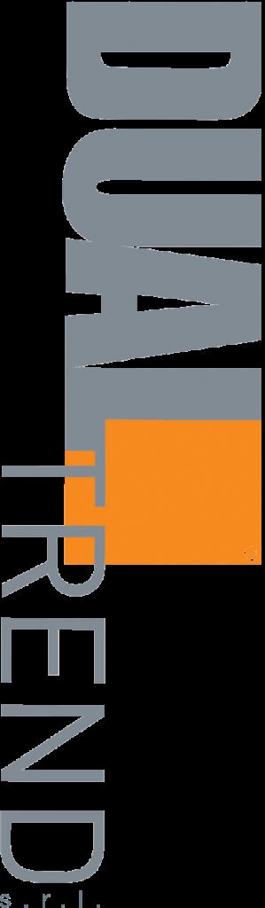 logo dual trend verticale